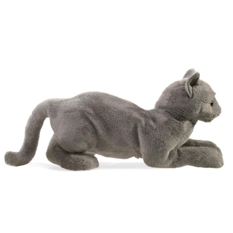 Folkmanis Purring Grey Cat Puppet