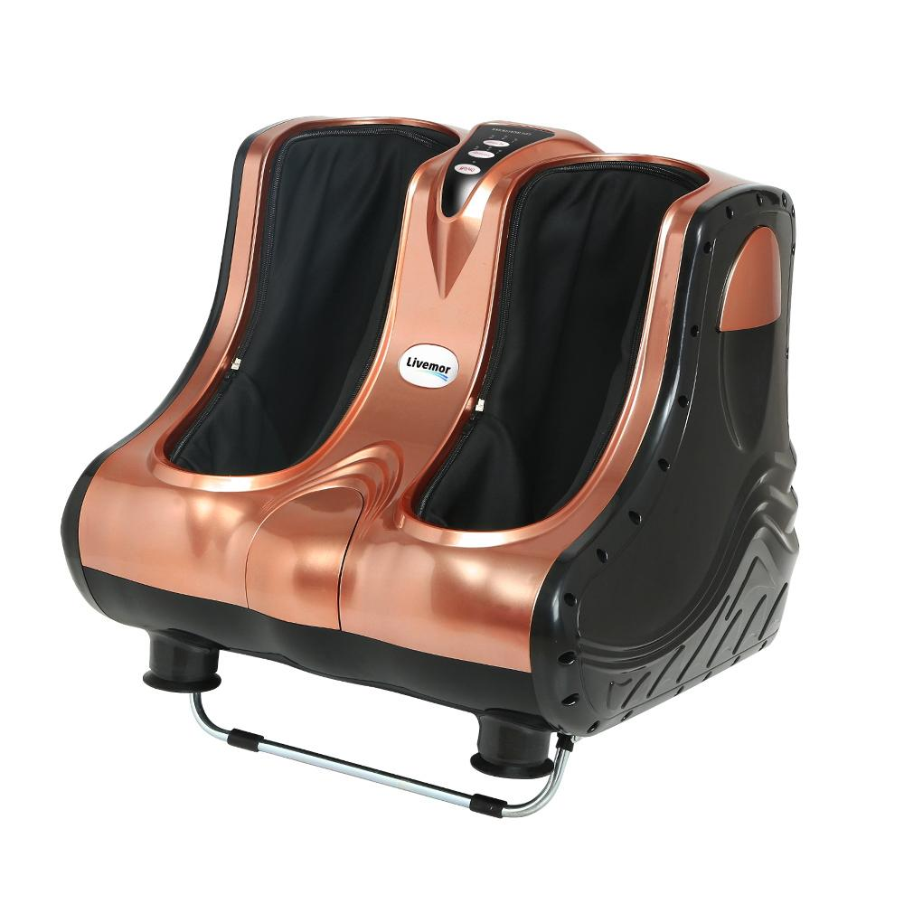 Livemor 3D Foot Massager Shiatsu Machine Ankle Calf Leg Kneading Timer Rose Gold