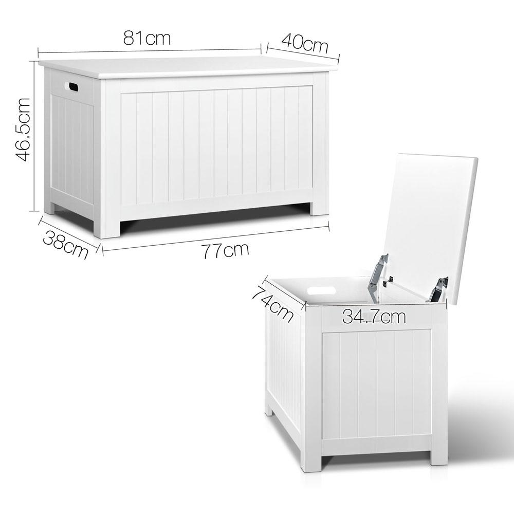 Kid's Toy Cabinet Chest White