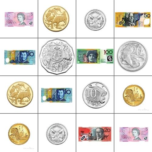 Bee-Bot Mat - Australian Currency