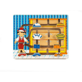 Kiddie Connect In His Wardrobe Wooden Clothes Maze