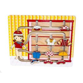 Kiddie Connect In Her Wardrobe Wooden Clothes Maze