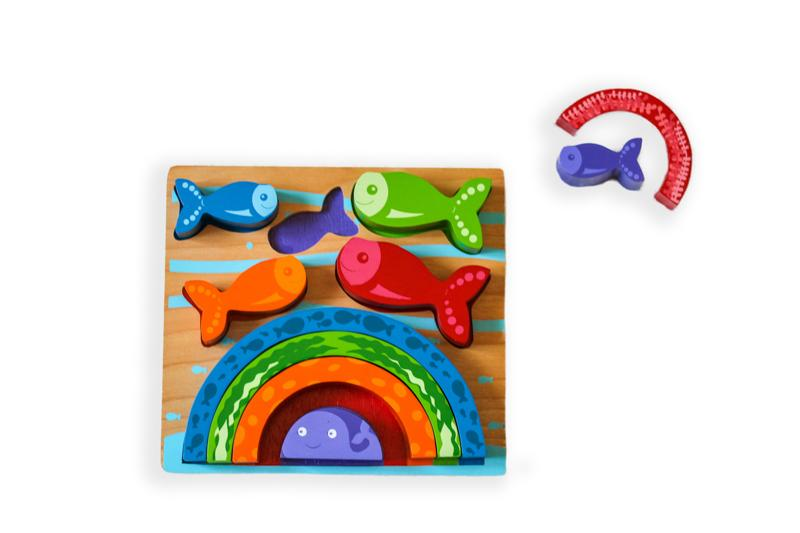 Kiddie Connect Rainbow Fish Puzzle