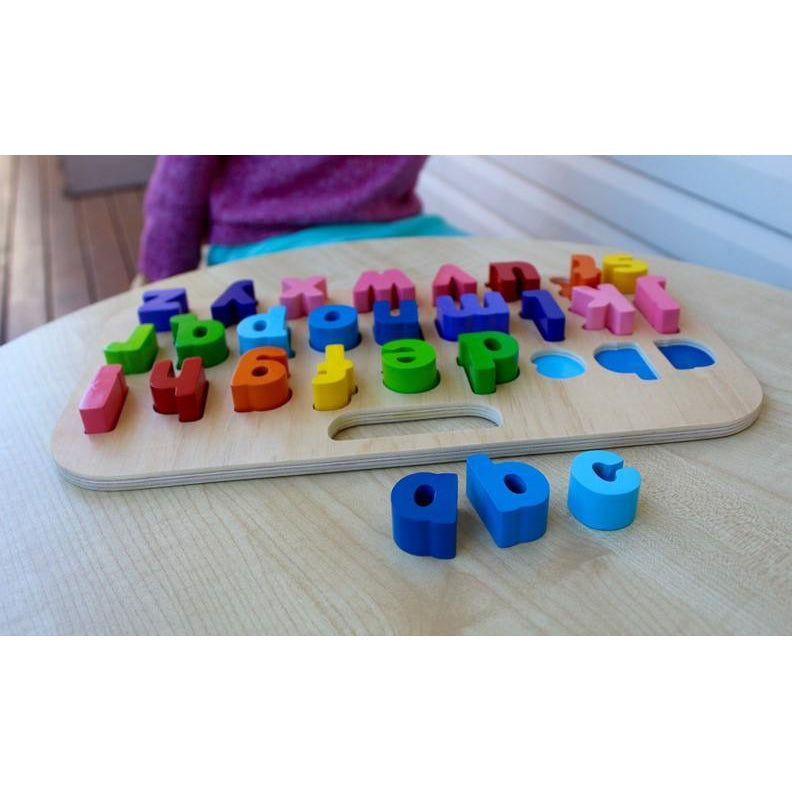 Kiddie Connect Carry Around Abc Lower Case Puzzle