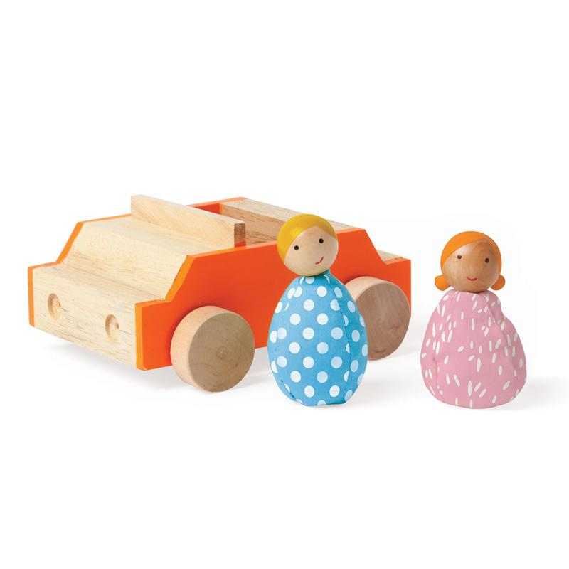 Manhattan Toy Mio Car and Two People Set
