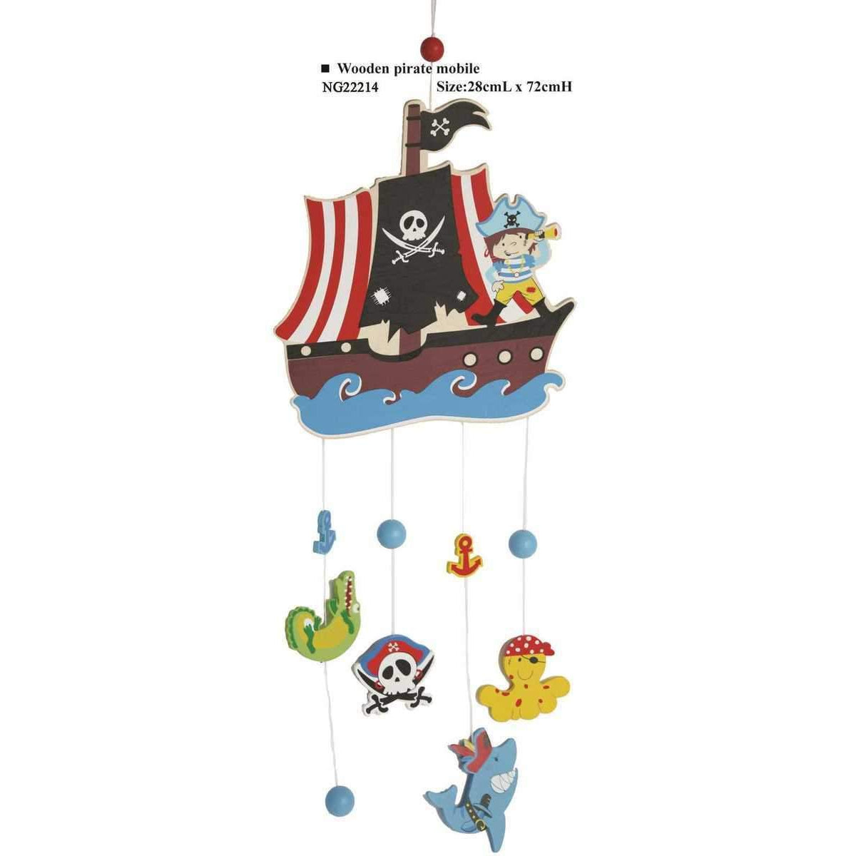 Wooden Pirate Nursery Mobile