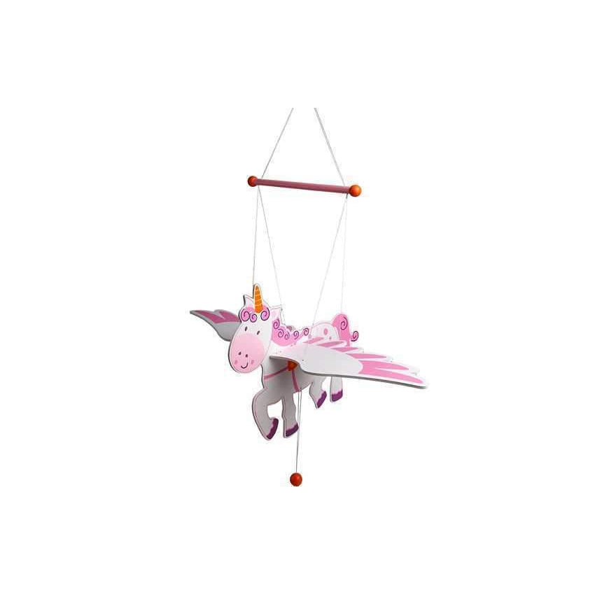 Wooden Flying Unicorn Nursery Mobile