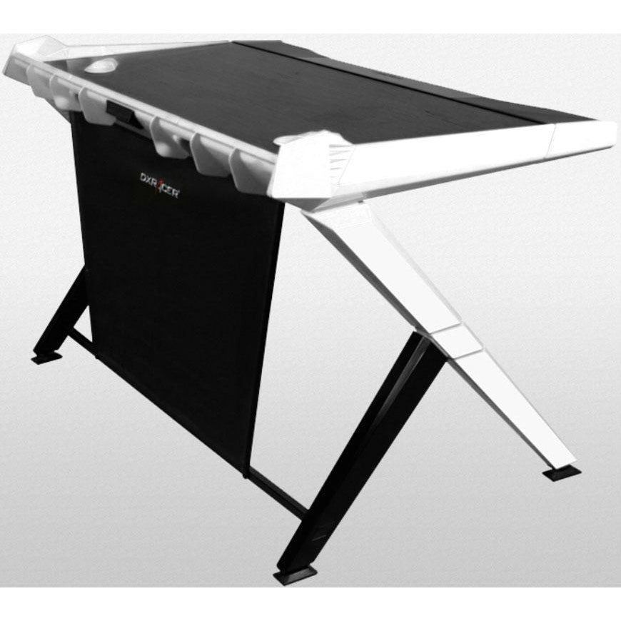 DXRacer 1000 Series Gaming Desk - Black & White