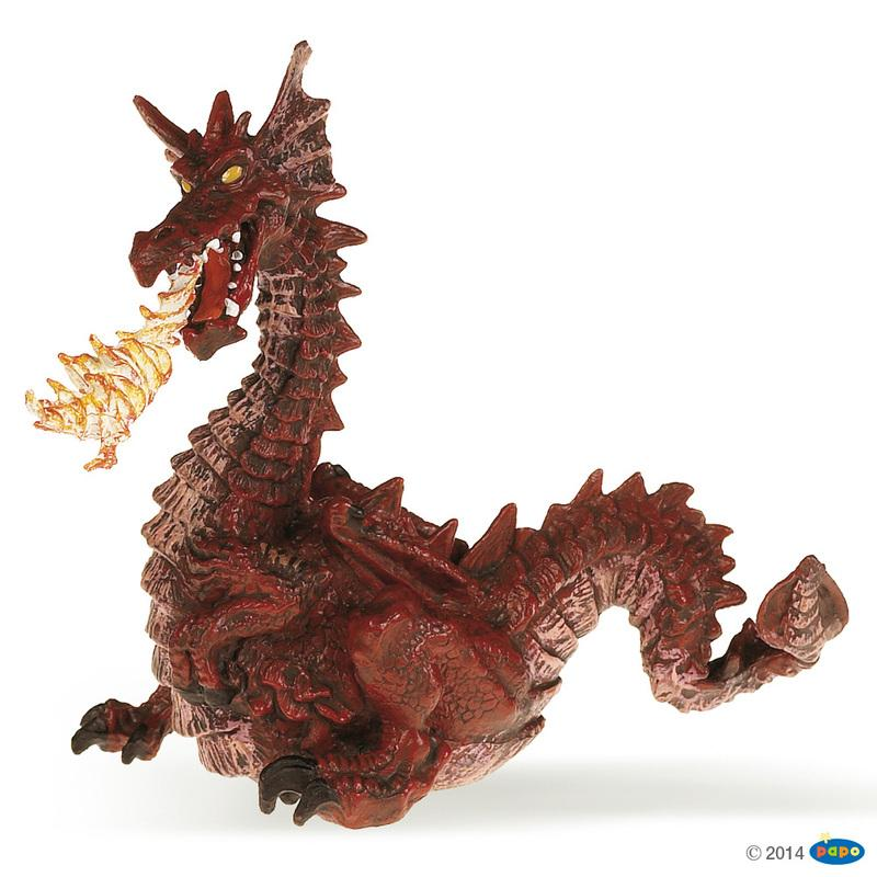 Papo Fantasy Red Dragon With Flame