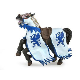 Papo Medieval Era Dragon Kings Horse Blue-Collectables-Cubox Australia
