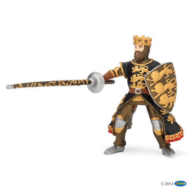 Papo Medieval Era King Richard with Lance Black And Gold-Collectables-Cubox Australia