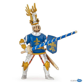 Papo Medieval Era Blue Knight Fleur De Lys-Collectables-Cubox Australia