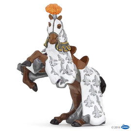 Papo Medieval Era White Prince Philip Horse-Collectables-Cubox Australia