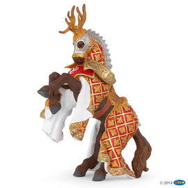 Papo Medieval Era Horse Of Stag Knight Red-Collectables-Cubox Australia