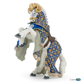 Papo Medieval Era Horse Of Knight Ram Blue-Collectables-Cubox Australia
