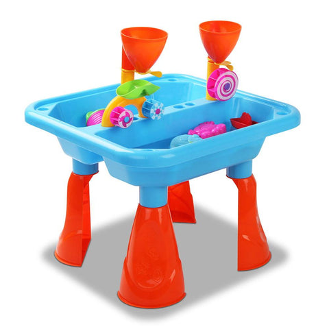 23 Piece Outdoor Kid's Play Table Sandpit Set