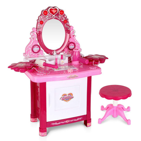 30 Piece Kids Pretend Play Dressing Table Set - Pink