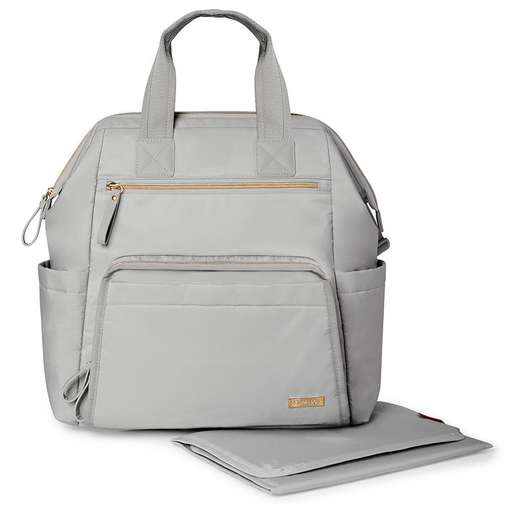 Skip Hop Main Frame Wide Open Backpack Cement
