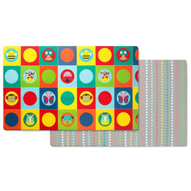 Skip Hop Doubleplay Reversible Playmat Zoo / Multi Dots