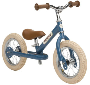 Trybike Steel Blue Vintage Edition, With Chrome Parts And Cream Tyres