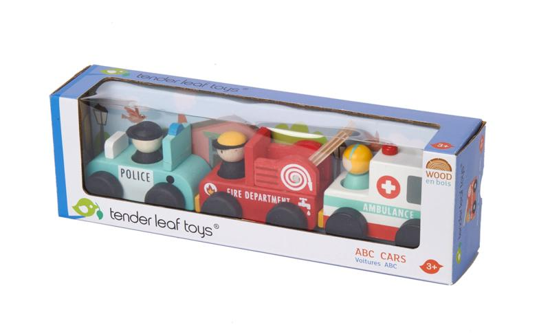 Tender Leaf Toys ABC Emergency Cars