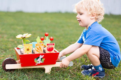 Tender Leaf Toys Garden Wheelbarrow Set