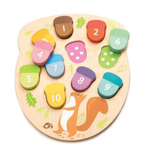 Tender Leaf Toys How Many Acorns Wooden Puzzle
