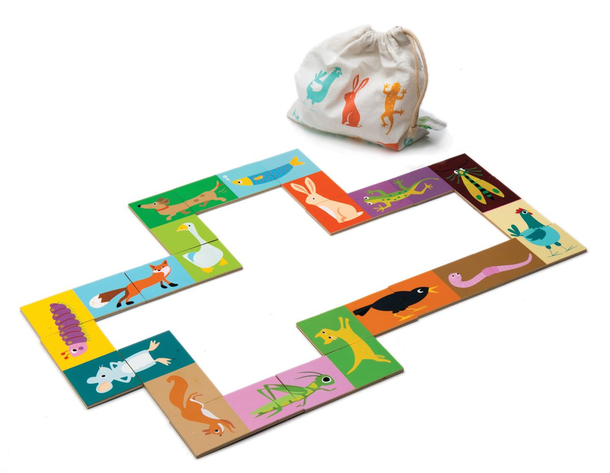 Tender Leaf Toys Heads & Tails Dominoes with Bag