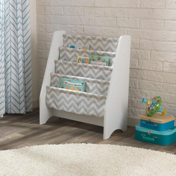 Kidkraft Sling Bookshelf - Gray & White