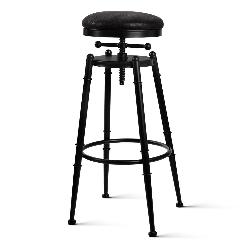Artiss Industrial Vintage Bar Stool Retro Barstool Dining Kitchen Counter Black