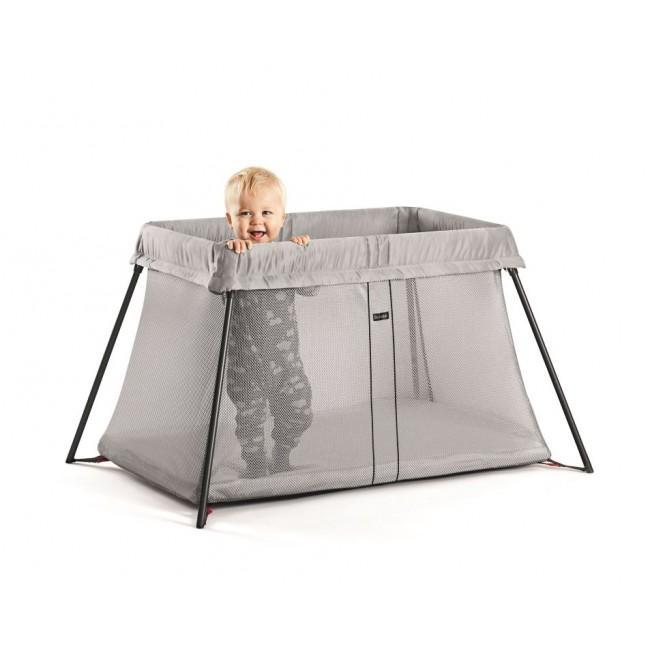 BabyBjorn Travel Cot Light Silver Mesh - Cubox Australia