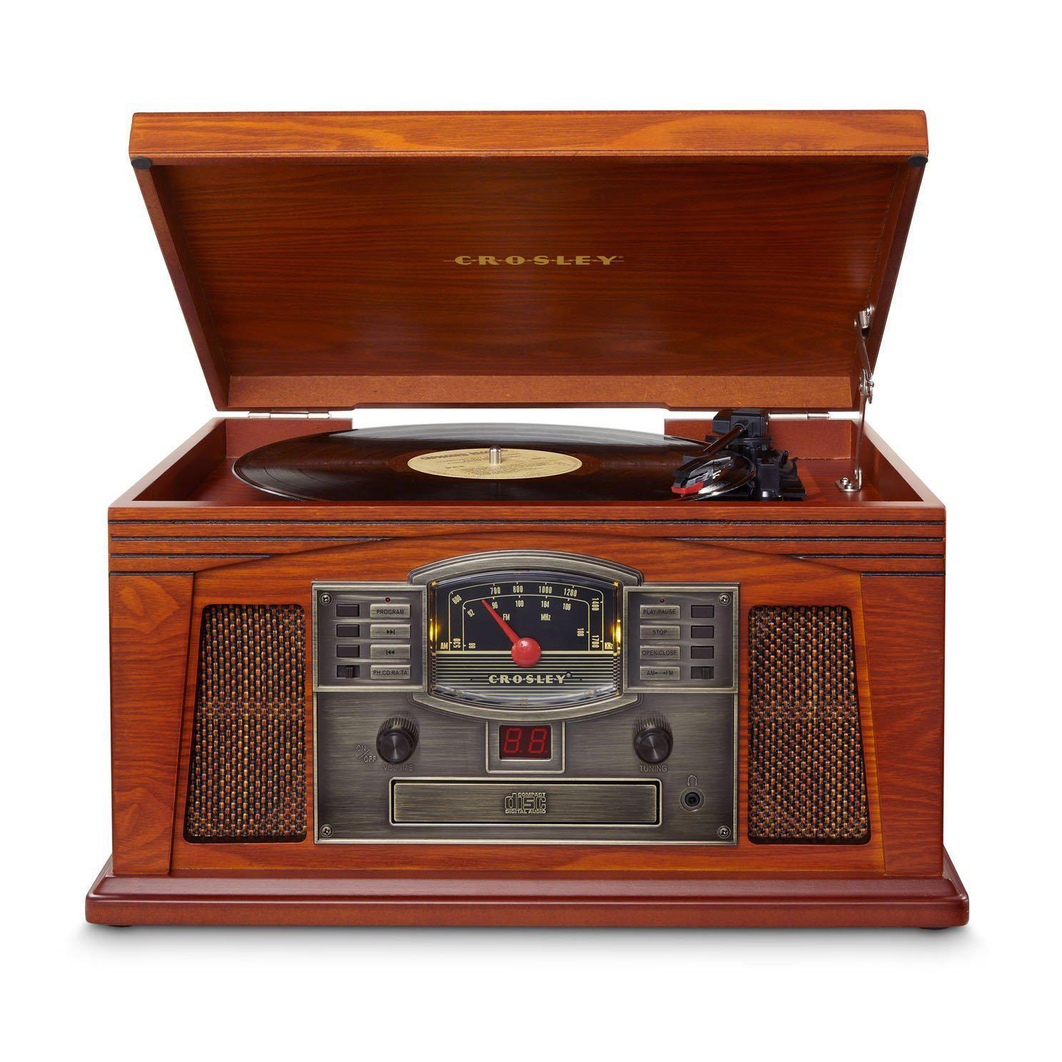 Crosley Lancaster Turntable with Bluetooth (in) - Paprika-Cubox Australia