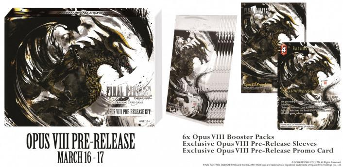 Final Fantasy Trading Card Game Opus VIII Pre-release Kit