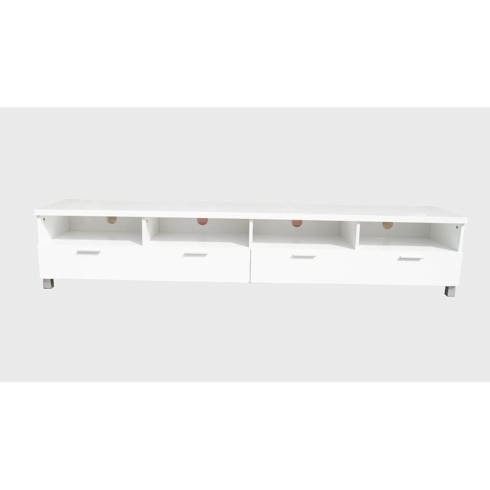 TV Stand Elisha High Gloss Entertainment storage Unit - White