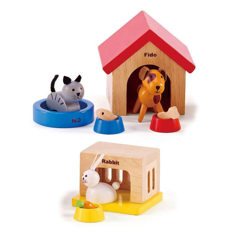 Hape Dollhouse Family Pet Set