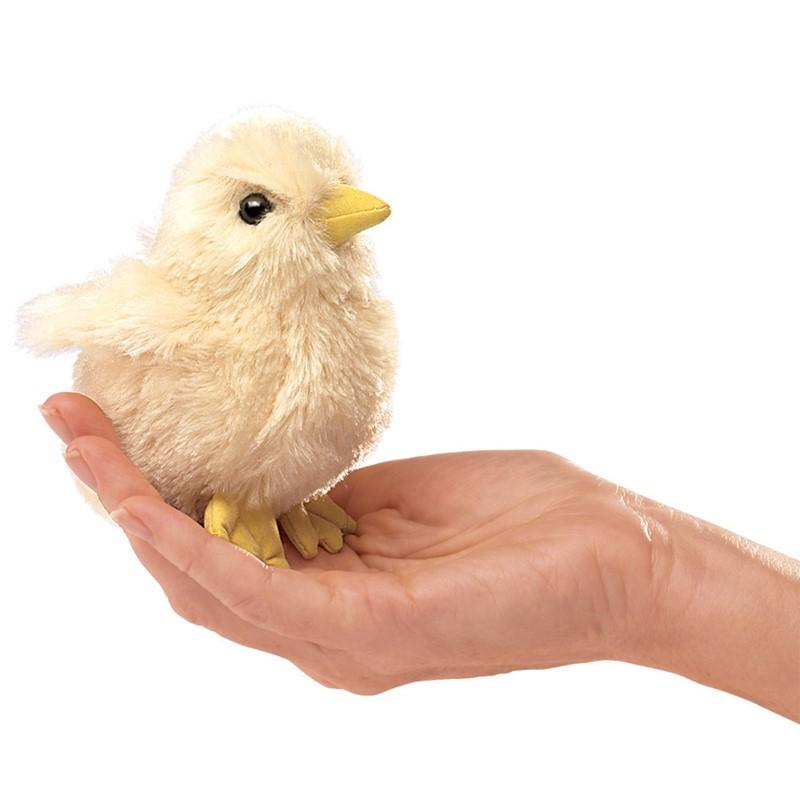 Folkmanis Mini Chick Finger Puppet-Cubox Australia