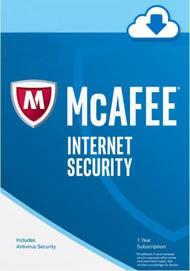 McAfee Internet Security 2018 1 Year 3 User