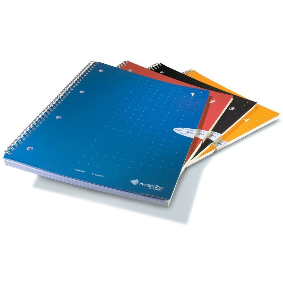 LIVESCRIBE A4 Spiral Lined Notebooks