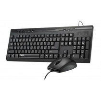 RAPOO NX1710 Wired media keyboard and optical mouse combo Black