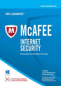 McAfee Internet Security 2018 1 Year 1 User