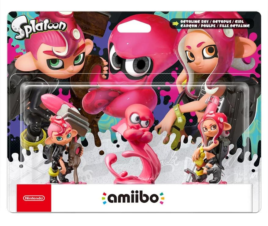 Nintendo Amiibo Octoling Girl, Octoling Boy & Octoling Octopus 3 Pack