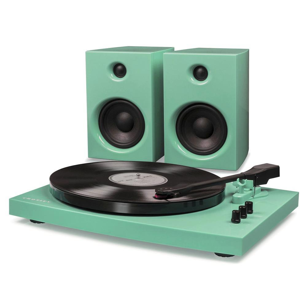 Crosley T100 Stereo Turntable with Speakers & Bluetooth - Turquoise-Cubox Australia