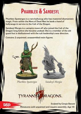 Dungeons & Dragons Tyranny of Dragons Pharblex & Sandesyl