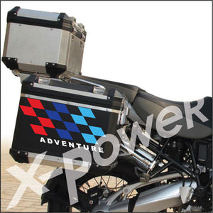 R1200GS M Color Checker Flag Pannier Box Decal Sticker