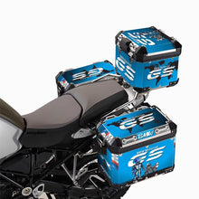 R1200GS ADV 3 x Pannier Adventure Protector Cover Blue Sticker Decal Set GSA
