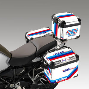 Motorsport M Color GS Rally White Reflective Pannier Box Sticker Decal