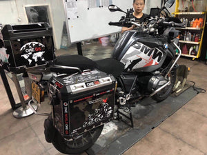 3 x R1200GS ADV One World One GS Trophy Boxes Reflect Decal Sticker