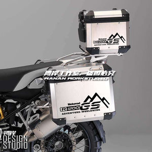 R1200GS F800 700 ADV Black Pannier Cover Box GS Adventure Sticker Decal Motorrad
