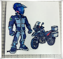 R1200GS F650 F700 F800GS R1200RT ADV LC Cartoon Rider Pannier Box Case Cover Reflective Decal Sticker For BMW Motorrad Days