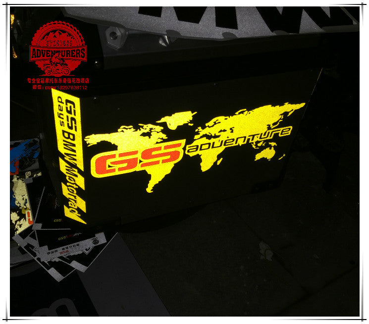 R1200gs adventure yellow reflective world map pannier sticker decal load image into gallery viewer r1200gs adventure yellow reflective world map pannier sticker decal bmw gumiabroncs Gallery